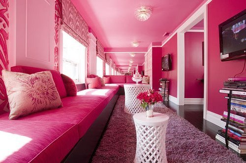 Red Bedrooms For Girls